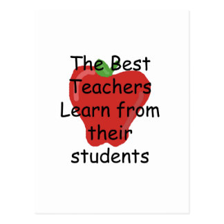 Teacher learn from Students Postcard