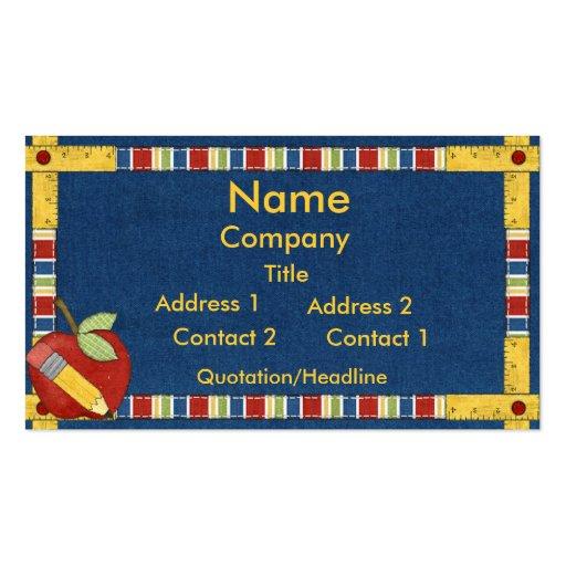 Teacher learning business card