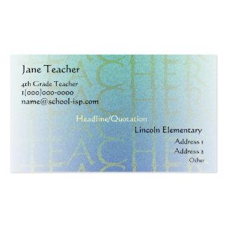 Teacher Light Blue Business Profile Card Template Business Card Template