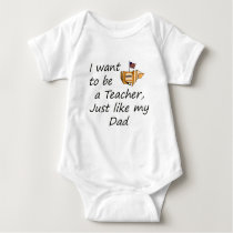 Teacher like Dad Baby Bodysuit