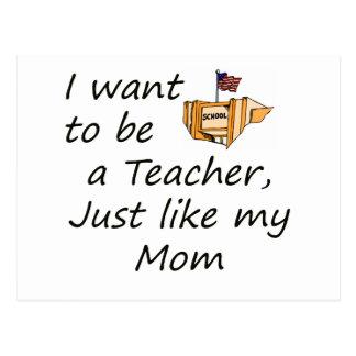 Teacher like MOM Postcard