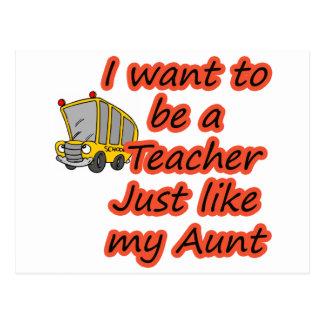Teacher like my aunt postcard