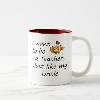 Teacher like Uncle Two-Tone Coffee Mug