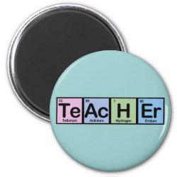 Round Magnet with Teacher design