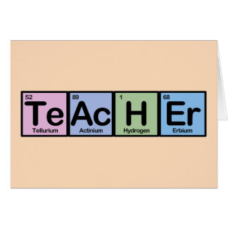Teacher made of Elements Cards