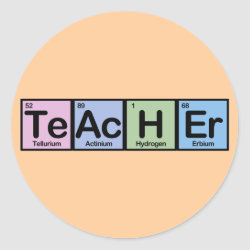Round Sticker with Teacher design