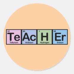 Round Sticker with Teacher design