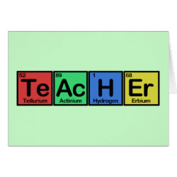 Greeting Card with Teacher design