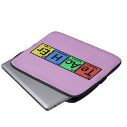 Neoprene Laptop Sleeve 13 inch with Teacher design