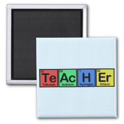 Square Magnet with Teacher design