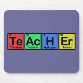 Teacher made of Elements colors Mouse Pad