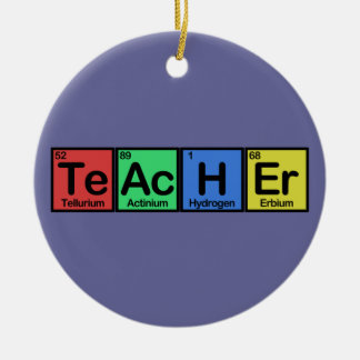 Teacher made of Elements colors Christmas Ornament