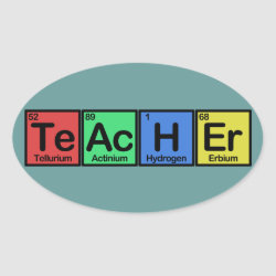 Oval Sticker with Teacher design