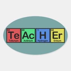 Oval Sticker with Teacher design