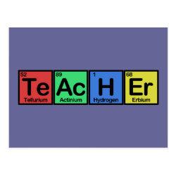 Postcard with Teacher design