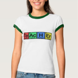 Ladies Ringer T-Shirt with Teacher design
