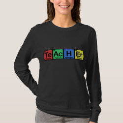 Women's Basic Long Sleeve T-Shirt with Teacher design