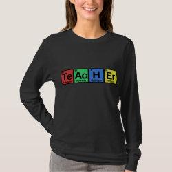 Women's Basic Long Sleeve T-Shirt with Teacher design