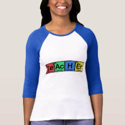 Ladies Raglan Fitted T-Shirt with Teacher design