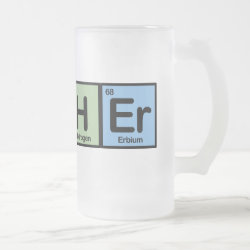 Frosted Glass Mug with Teacher design