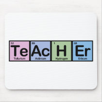 Teacher made of Elements Mouse Pad