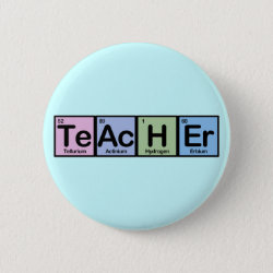 Round Button with Teacher design