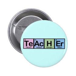 Round Button with Teacher design