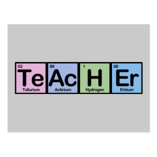 Teacher made of Elements Post Card