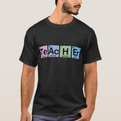 Men's Basic Dark T-Shirt with Teacher design