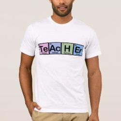 Men's Basic American Apparel T-Shirt with Teacher design