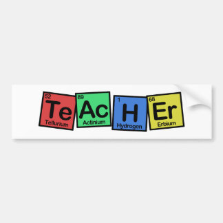 Teacher made of Elements whimsical Bumper Sticker