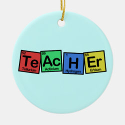 Circle Ornament with Teacher design