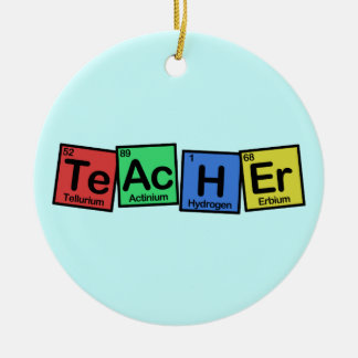 Teacher made of Elements whimsical Ceramic Ornament