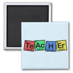 Square Magnet with Teacher design