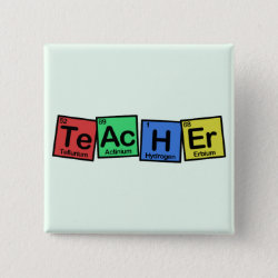 Square Button with Teacher design