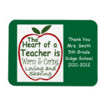 Teacher Magnet, Apple verse with dedication