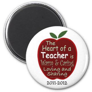 Teacher Magnet, Apple verse with dedication 2 Inch Round Magnet