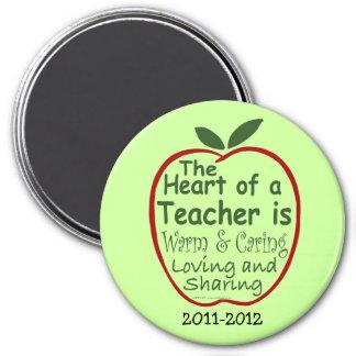 Teacher Magnet, Apple verse with dedication 3 Inch Round Magnet