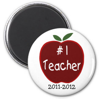 Teacher Magnet, with dedication 2 Inch Round Magnet