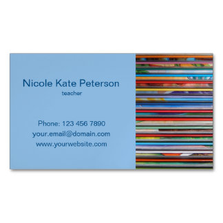 teacher magnetic business card