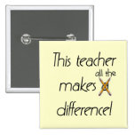 Teacher Makes a Difference T-shirts and Gifts Button