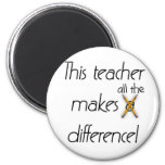 Teacher Makes a Difference T-shirts and Gifts Fridge Magnets