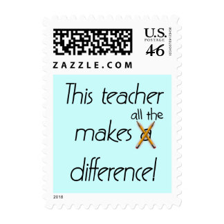 Teacher Makes a Difference T-shirts and Gifts Postage