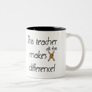 Teacher Makes a Difference Two-Tone Coffee Mug