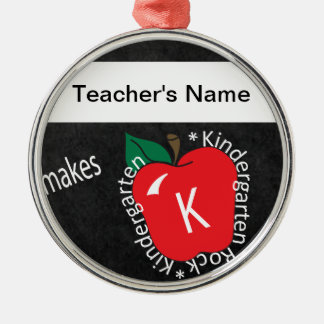Teacher Makes Kindergarten Rocks Ornament