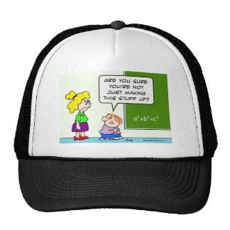 teacher making algebra up in school hat