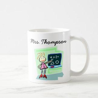 Teacher Math Chalkboard Classroom Design Coffee Mug