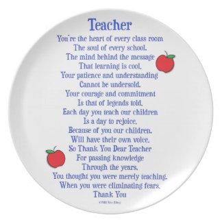 Teacher Melamine Plate