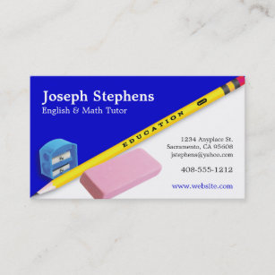 Teacher Mentor Or Tutor Business Card