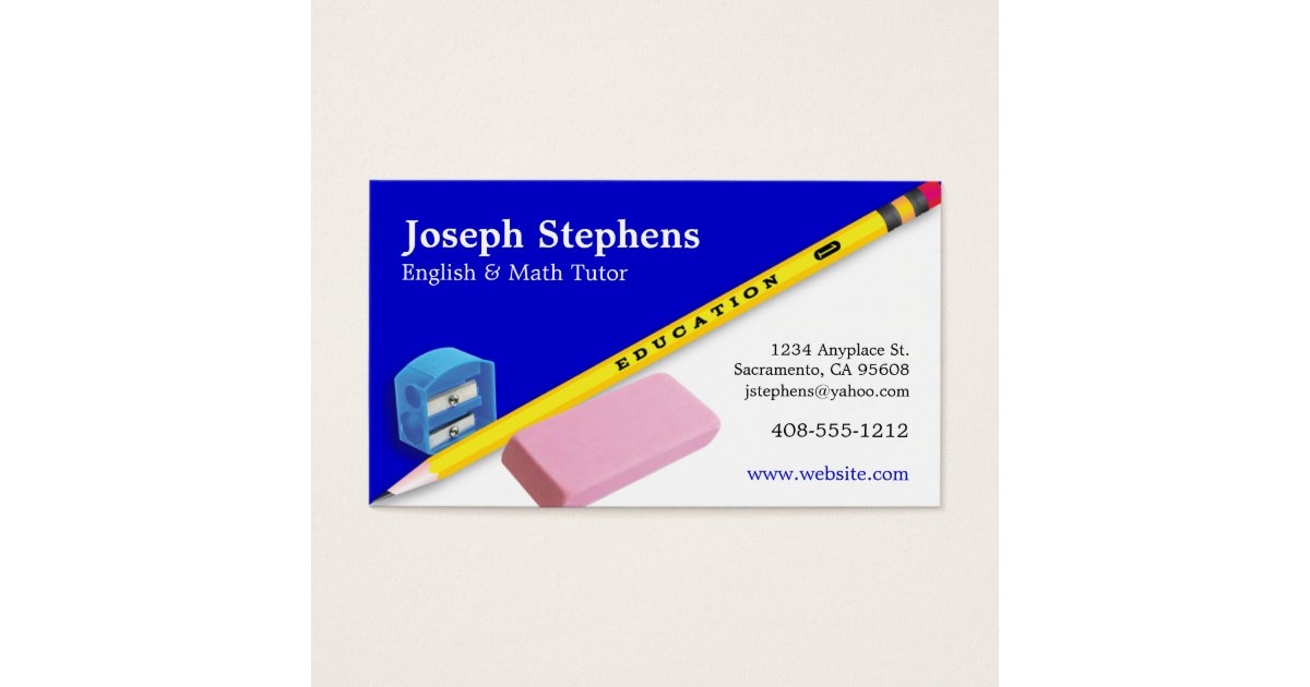 Tutor Business Cards & Templates | Zazzle